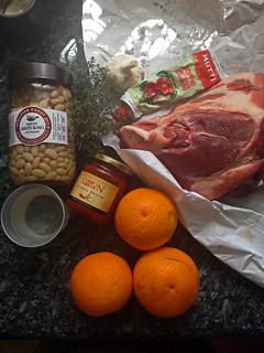 Porc à l'harissa et haricot blanc