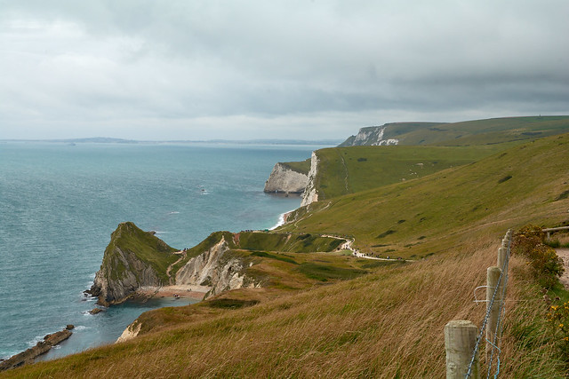 Stunning views of the Juarassic coast, but it was such a windy day.