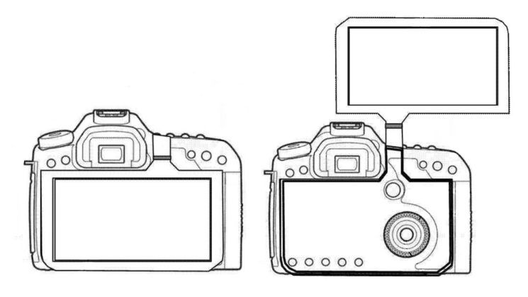 Canon : Un brevet dévoile un nouvel écran LCD géant articulé pour ses reflex numériques
