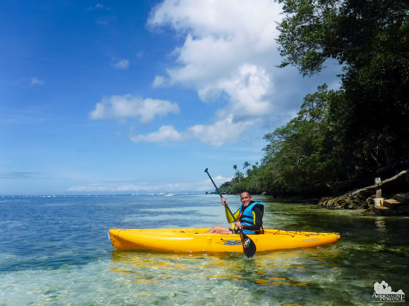 Kayaking at Bluewater Panglao Beach Resort