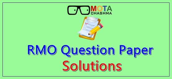 RMO Question Papers and Solutions