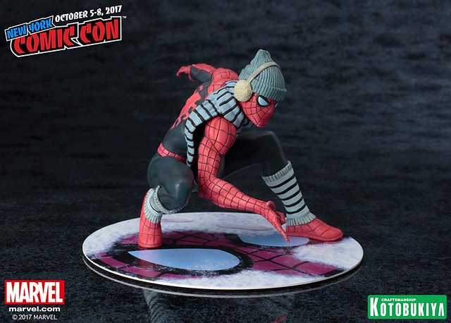 這個造型實在太毒了吧~ 2017 NYCC 限定!!壽屋 ARTFX+ 系列【蜘蛛人 冬裝版】Spider-Man Winter Gear Statue