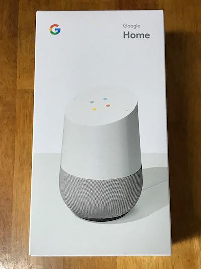 Google Homeの外箱