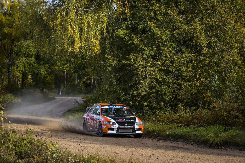 15 Nitiss Reinis and Neiksans Maris, Mitsubishi Lancer Evo IX action during the 2017 European Rally Championship ERC Liepaja rally,  from october 6 to 8, at Liepaja, Lettonie - Photo Gregory Lenormand / DPPI