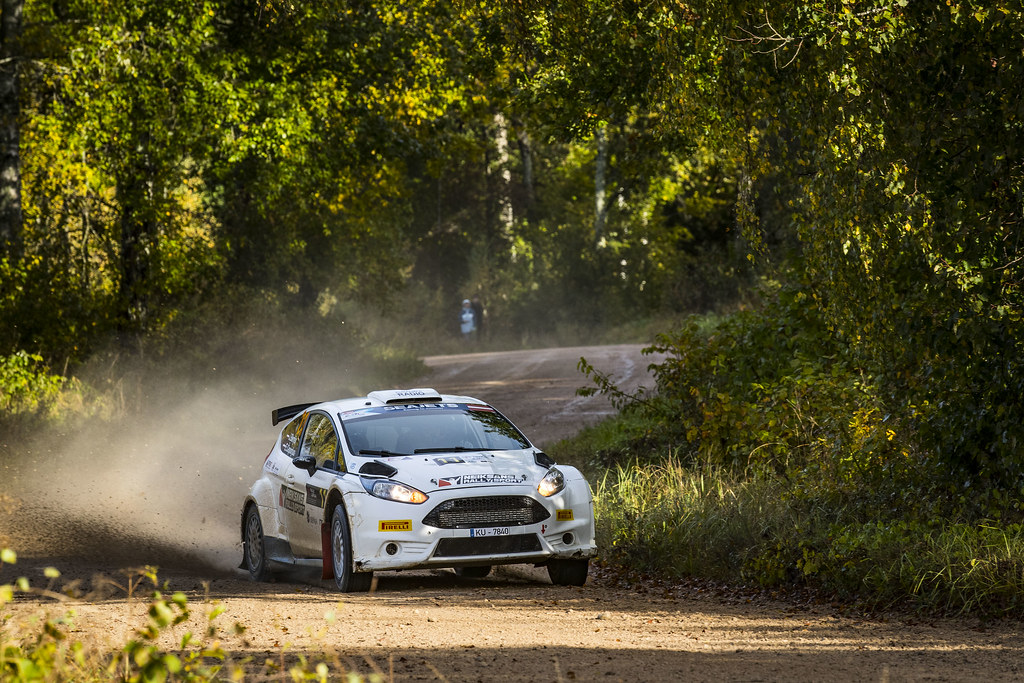 11 Berkis Janis and Ceporjus Edgars, Neiksans Rally Sport, Ford Fiesta R5 action during the 2017 European Rally Championship ERC Liepaja rally,  from october 6 to 8, at Liepaja, Lettonie - Photo Gregory Lenormand / DPPI