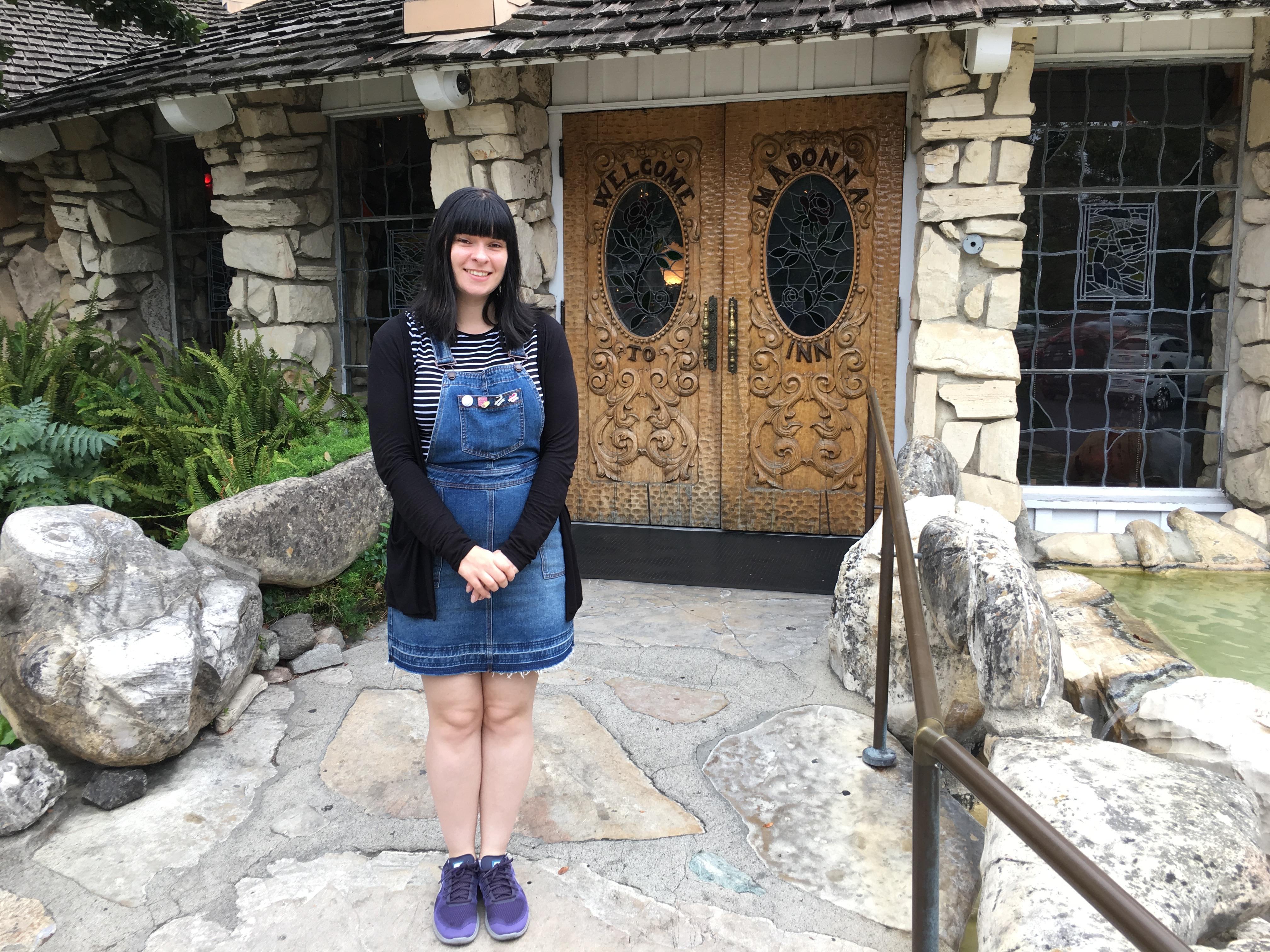 Madonna Inn - diane outside