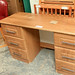 Oak laminate desk E55 as is