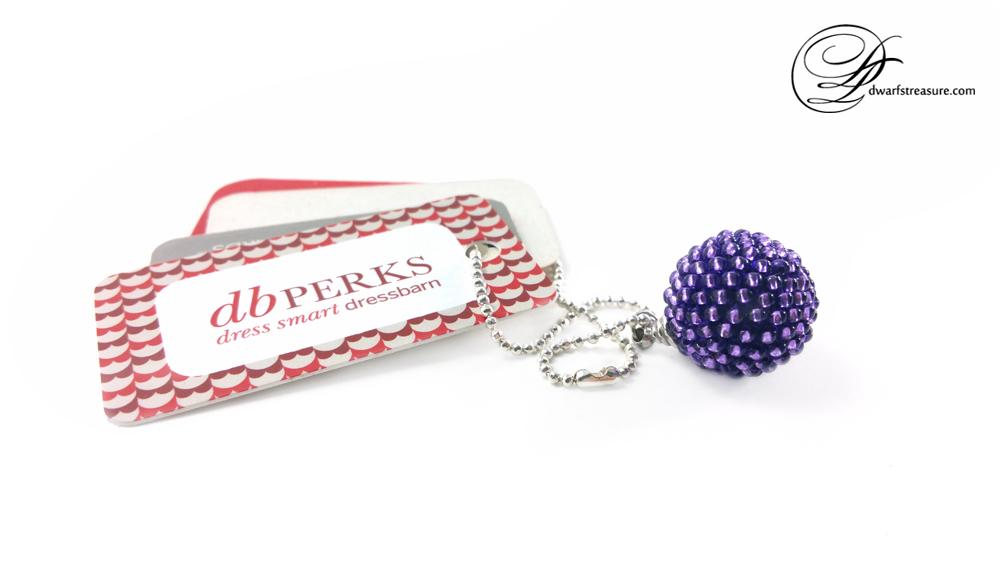 Fashion chic purple glass bead custom beaded ball pendant