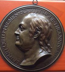 """bronze medallion """"Benjamin Franklin, Nini 1779"""