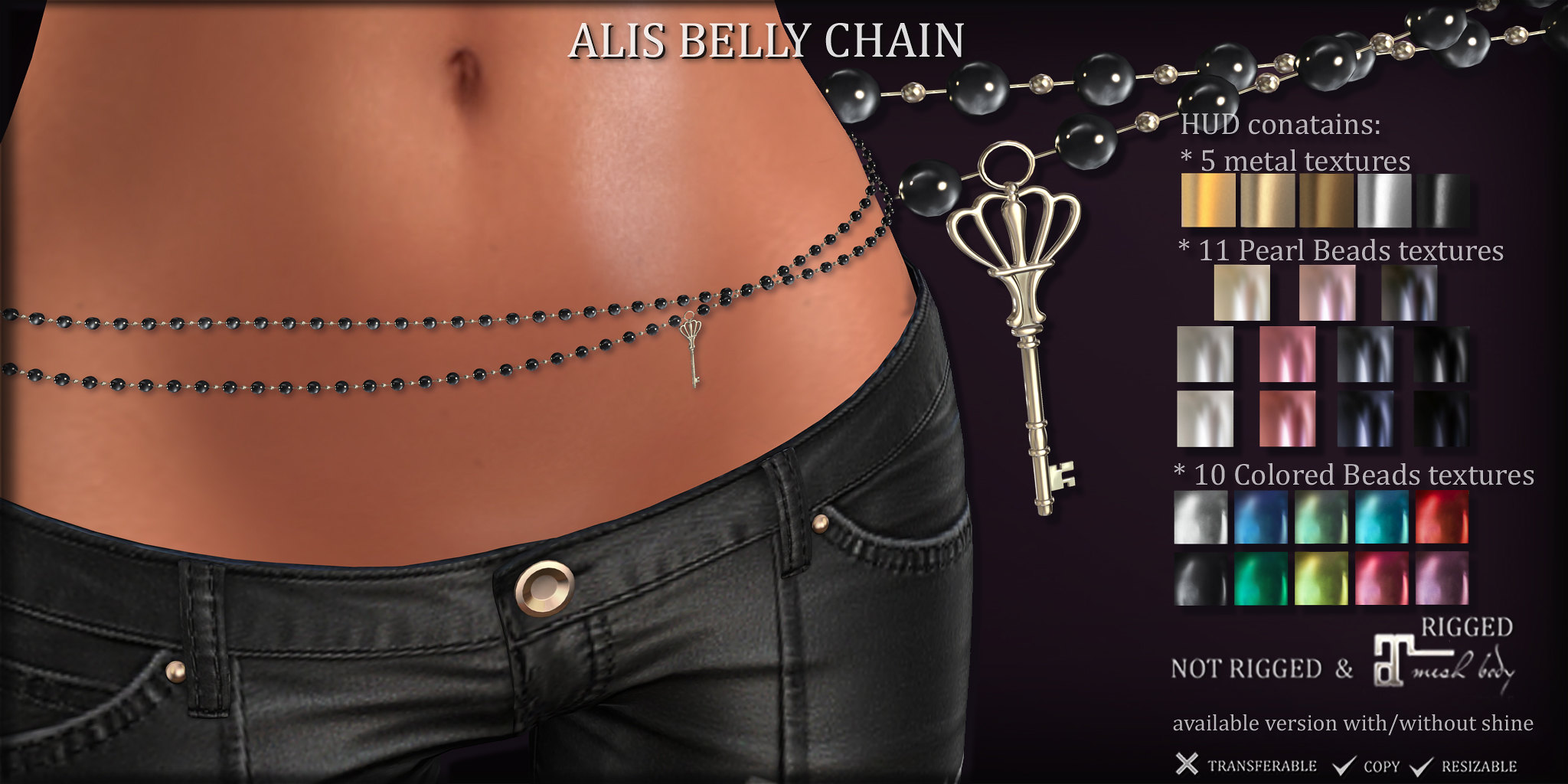 ALIS Belly Chain at COSMOPOLITAN