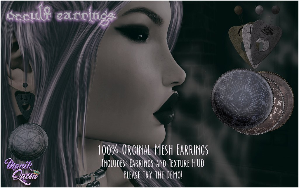 MANIK QUEEN - Occult Earrings AD - TeleportHub.com Live!