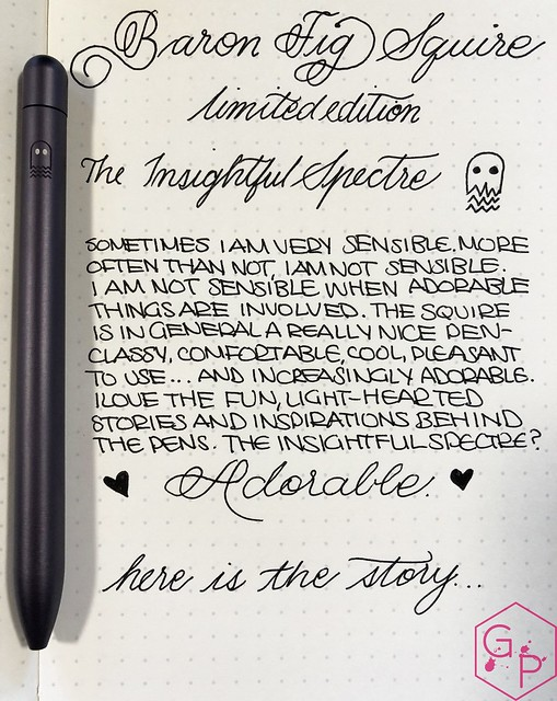 Review @BaronFig Limited Edition Squire The Insightful Spectre Rollerball Pen 1