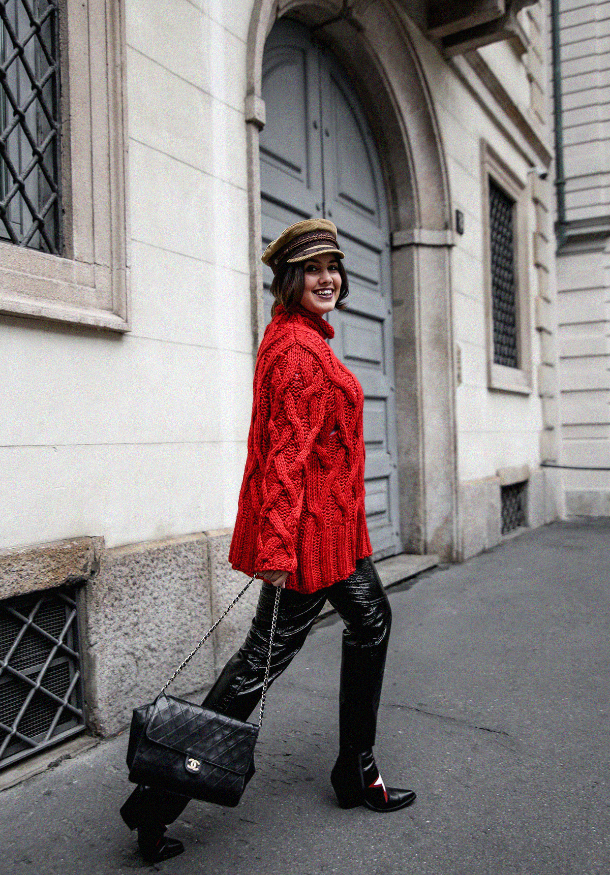 pantalones de charol look myblueberrynightsblog13
