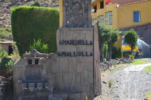 Inkagesetze auf dem Pfeiler