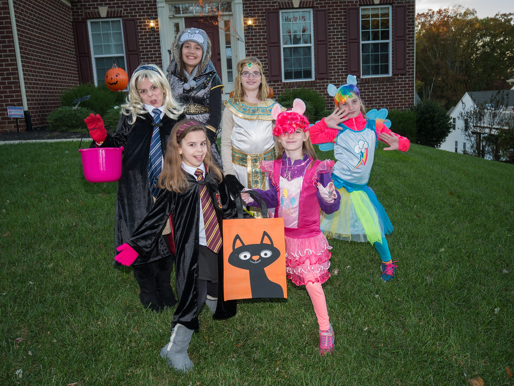 Trick-or-treating crew