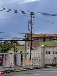 Engineer assessing power system damage on Puerto Rico, Oct. 30