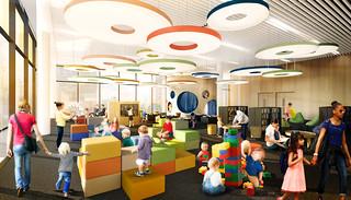 First floor, children's area