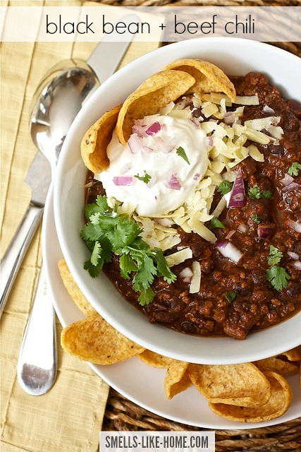 black bean and beef chili
