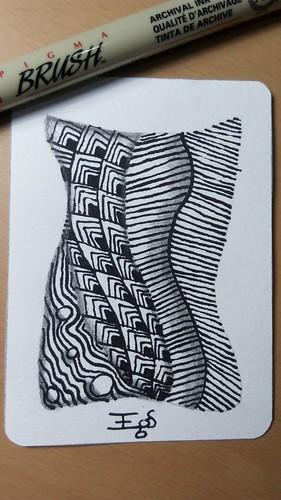 ATC com caneta pincel