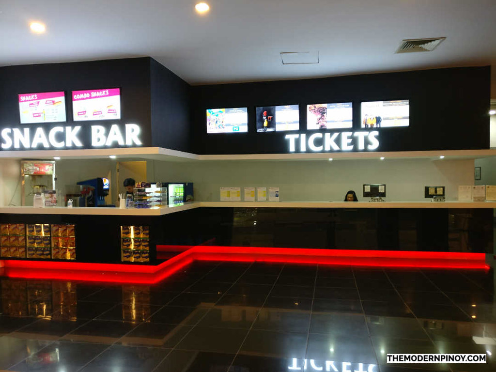 ticket booth and snack bar at starmall cinemas