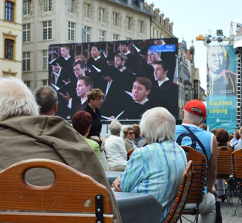 #TBT or a look into the future? In 2012, Chorale traveled to Leipzig, Germany, to perform in conjunction with the Bach Institute, and the popular performance was even broadcasted outside! This strong relationship continues as Chorale again travels to Germ