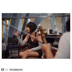 "#Repost @fondationlv (@get_repost) ・・・ #TAKEOVER / Geoffroy Schied (@35mmofmusic)  ""Yuja Wang, en pause lors de notre première répétition à l'Auditorium de la Fondation Louis Vuitton""  ""@yjawang.official, in the break of our first rehearsal at #fondationl"