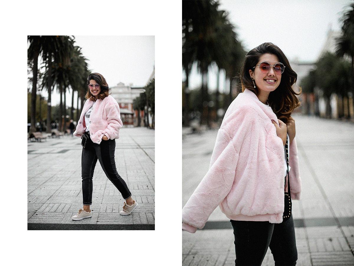 bomber-pelo-rosa-la-redoute