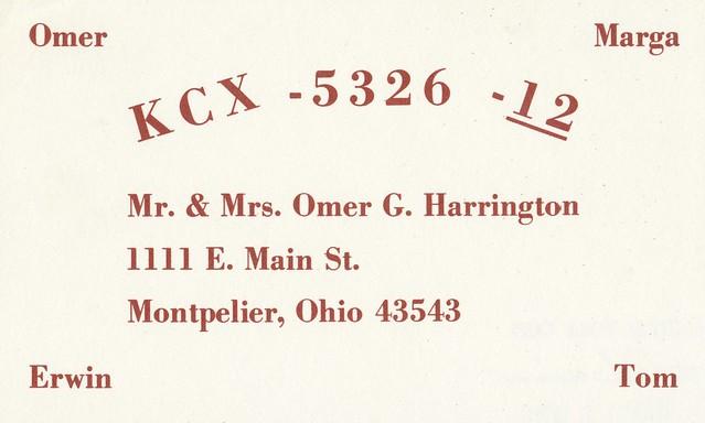 Mr. & Mrs. Omer G. Harrington - Montpelier, Ohio