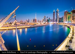 United Arab Emirates - UAE - Dubai - Creek area at Dusk - Twilight - Blue Hour - Night