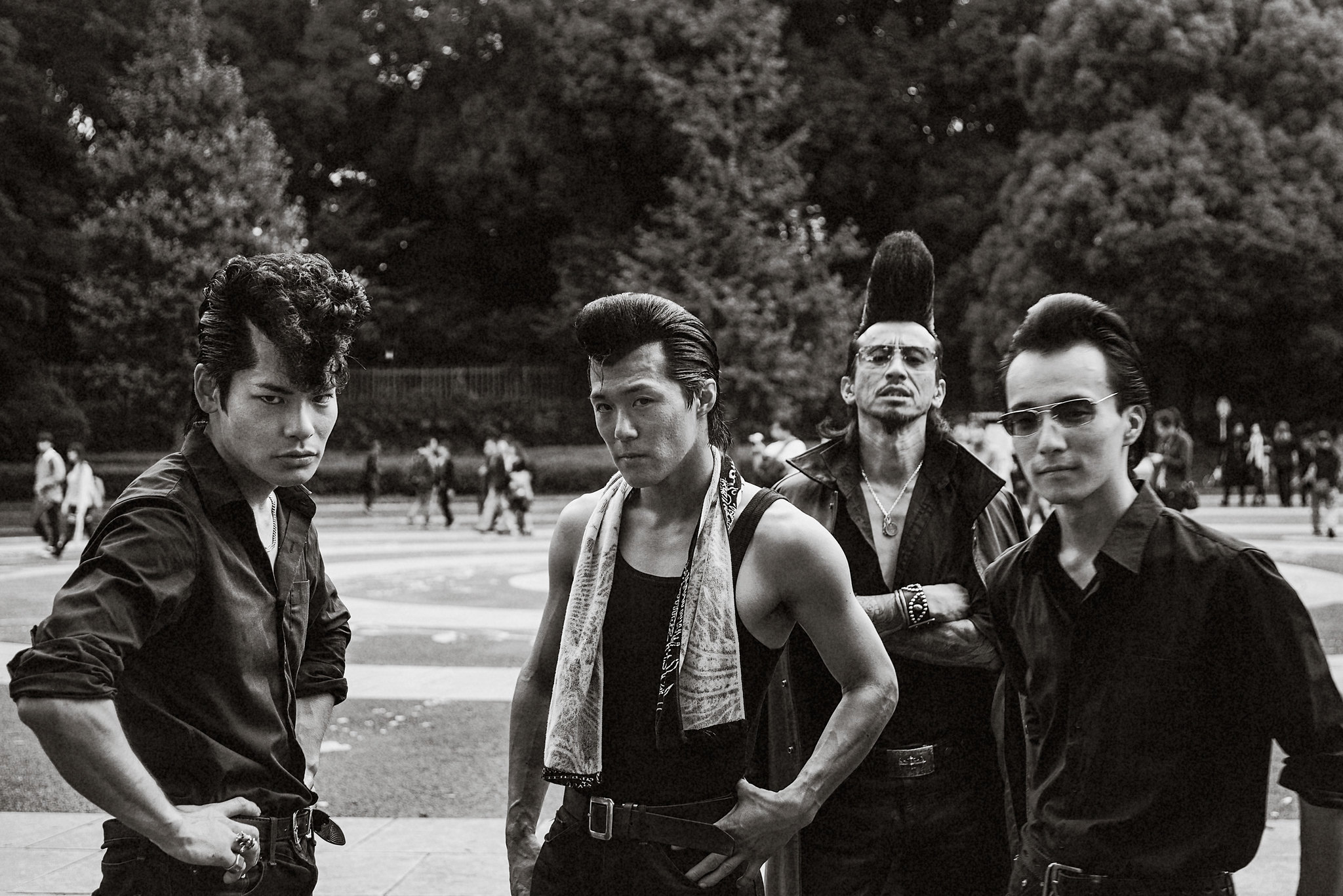 1950s Rockabilly Gang in Yoyogi Park
