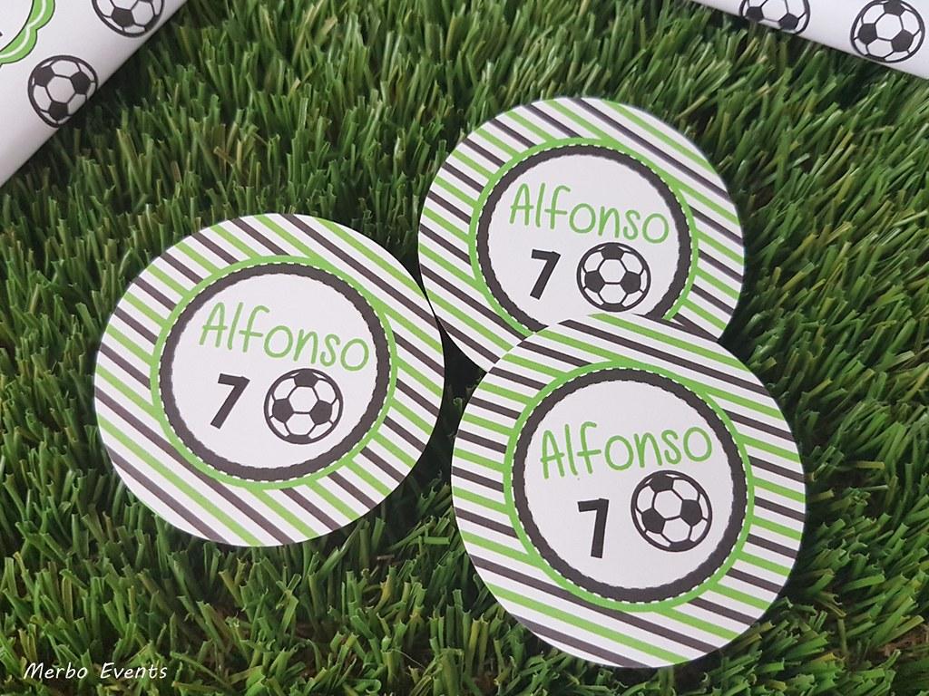 etiquetas fiesta cumpleaños futbol Merbo Events