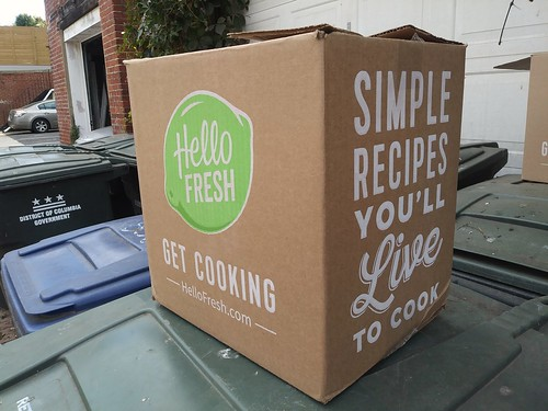 Hello Fresh meal kit delivery box