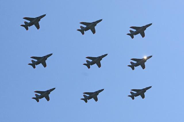 第1航空団 第31教育飛行隊 T-4による大編隊飛行 IMG_4145_2