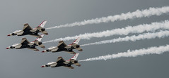 U.S. Air Force Thunderbirds Smoke