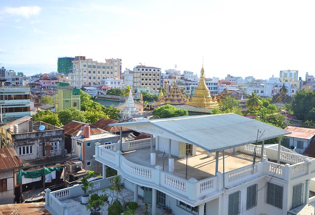 four rivers b&b mandalay rooftop view