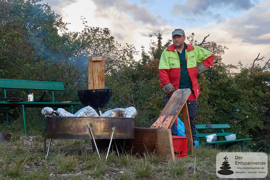 Sundowner auf der Kupferberghütte: Förster Dieter Gass