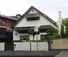 So this is the house I lived in straight after I was born. It's in Ormond Street, Elwood, Melbourne, Victoria, Australia.