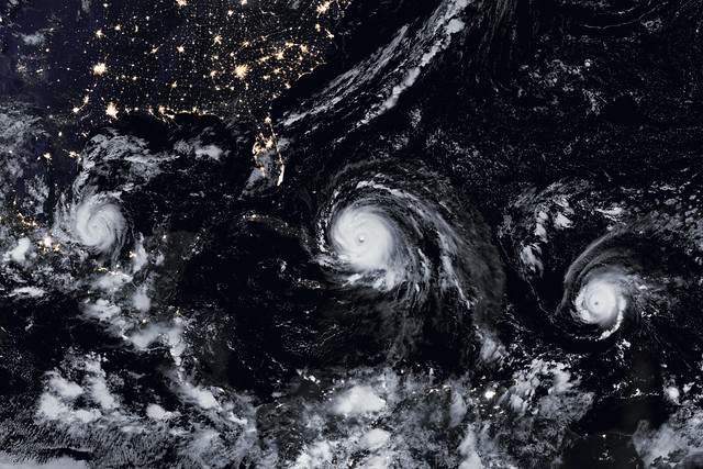 A Menacing Line of Hurricanes