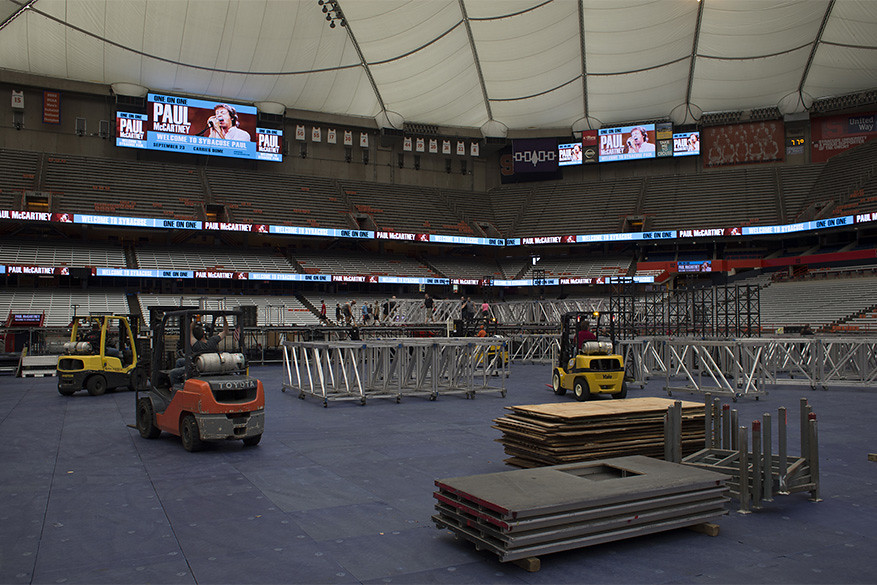 Paul McCartney Dome Set-up