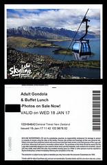 ephemera - Skyline Queenstown entry ticket