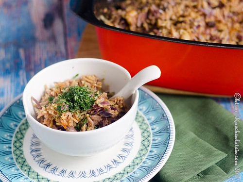 Red cabbage and cashew biryani (2)