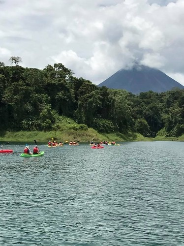 Kayaking on Lake Arenal. Costa Rica's Motto, Pura Vida, Comes Through in Its Humble Dish, Gallo Pinto