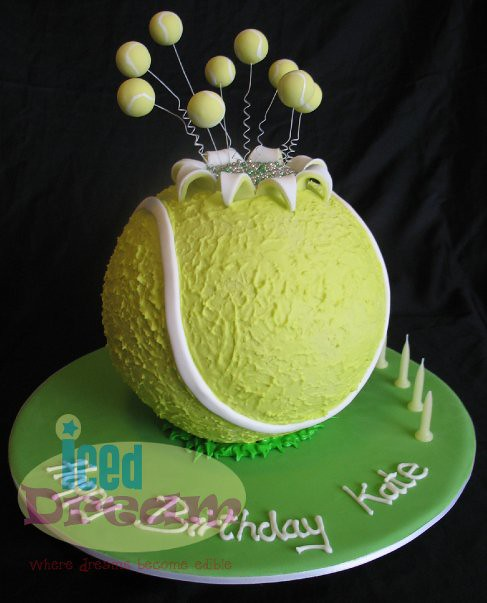 Tennis Ball Cake by Iced Dream Cakes
