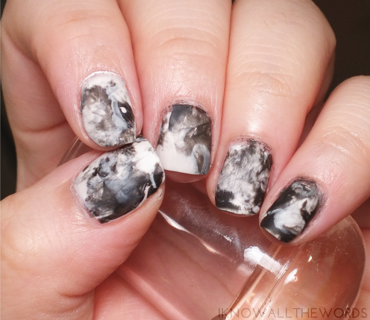 sally hansen black to basics collection nail art