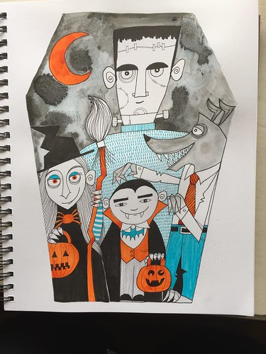 41 Halloween - Art Journal Page