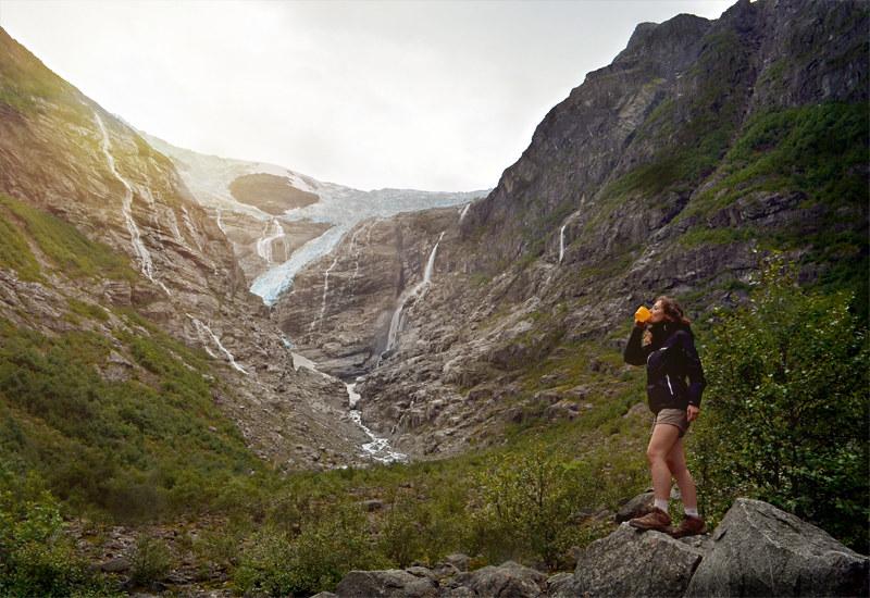 Visita en soledad del glaciar Kjenndalsbreen, situado dentro del Parque Nacional de Jostedalsbreen