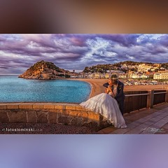 Tossa De Mar w Hiszpanii - Wyjątkowa sesja ślubna.