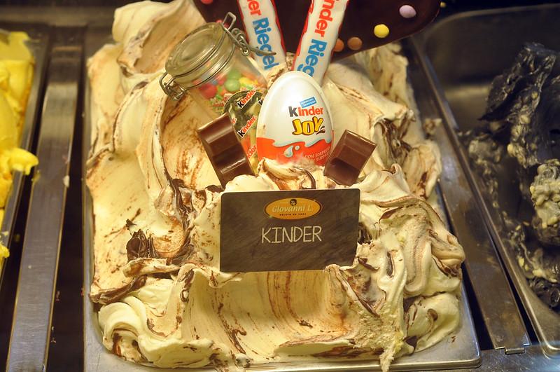 Kinder Schokolade Eiscreme