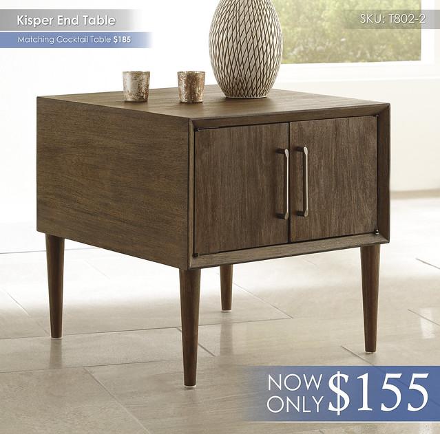 Kisper End Table T802-2
