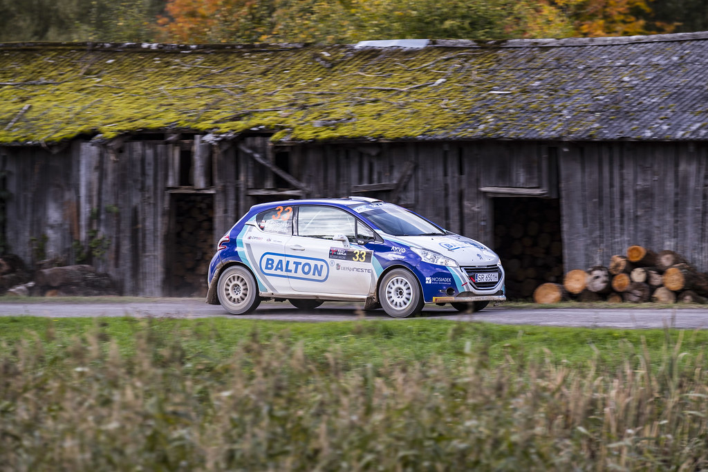 33 Polonski Dariusz and Gryczynska Balbina, Rally Technology, Peugeot 208 R2 action, during the 2017 European Rally Championship ERC Liepaja rally,  from october 6 to 8, at Liepaja, Lettonie - Photo Gregory Lenormand / DPPI